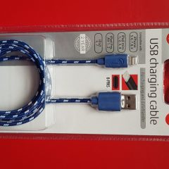 USB charging cable pour iphone 5,6,7,8, X bleu